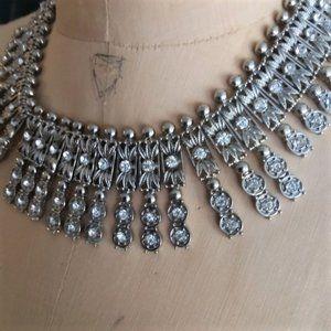 (Somewhat) sparkly vintage bib rhinestone necklace